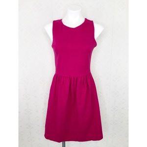 💜J.Crew Hot Pink Fit & Flare Sleeveless Dress